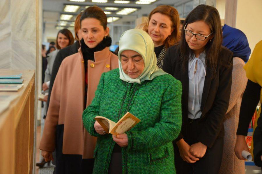 Посещение библиотеки супруги спикера Турции Семиха Йылдырым