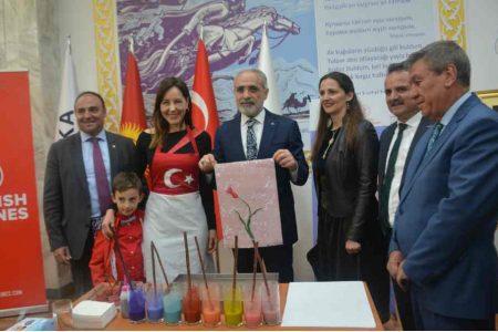 Выставка картин «Рисуем на воде» известной художницы из Турции Суна  Сельма Кочал.